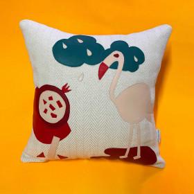 Almofada em Tecido Sustentável Flamingo