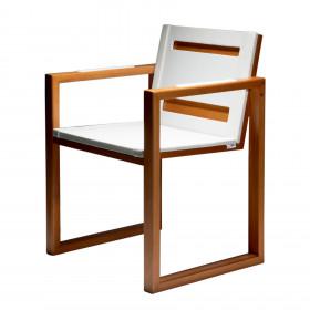 Cadeira em Madeira e Couro Cavra