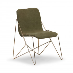 Cadeira em Aço e Estofado Grilo