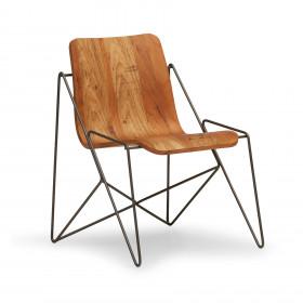 Cadeira em Aço e Madeira Grilo