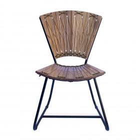 Cadeira em Madeira e Estrutura Metálica Ruptura