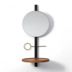 Espelho de Parede em Aço e Madeira Maria Bonita