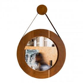 Espelho em Madeira Maciça de Imbuía Bolota