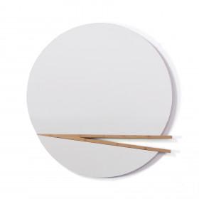 Espelho com Detalhe em Madeira Hashi Cristal