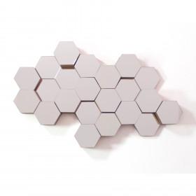 Espelho Hexagonal com Moldura Favo Cristal