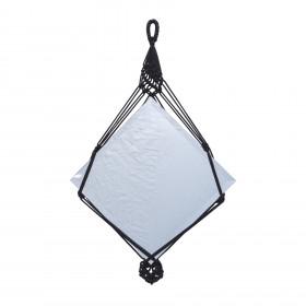 Espelho Quadrado em Macramê Mirtilo