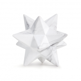 Estrela em Cerâmica Marmorizada