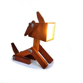 Luminária em Madeira Fiote - Abajur Canino