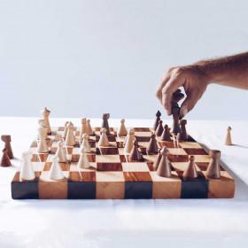 Jogo de Xadrez em Madeira Sjakk Thor