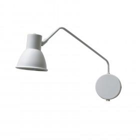 Luminária Arandela Articulada Jureia Branco Fosco com joelho 360