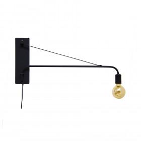 Luminária Longarina 90 com Copinho com pintura Preto Fosco