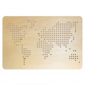 Mapa Pegboard Mundo
