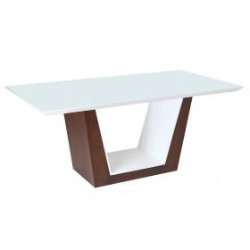 Mesa de Jantar com tampo de vidro Paula