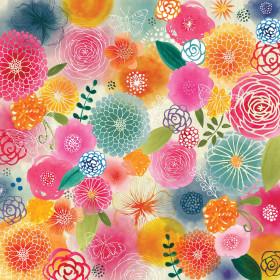 Painel Adesivo Flores e Borboletas