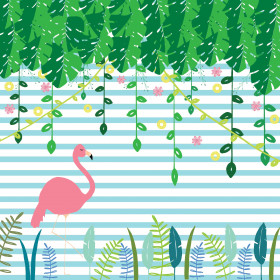 Painel Adesivo Flamingo