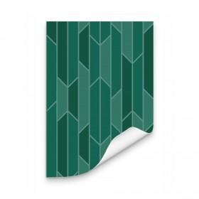 Papel de Parede Non-woven Modelo Plisse Verde
