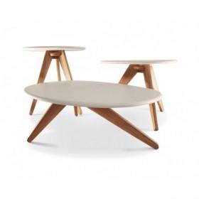 Conjunto de Mesas Peeble Branco