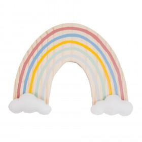 Plaquinha de Madeira Arco-íris