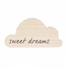 Plaquinha de Madeira Nuvem Sweet Dreams