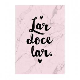 Poster Lar Doce Lar Rosa A3