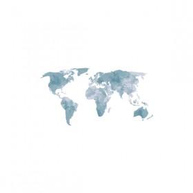 Poster Mundi Coetâneo Mapa 1 Azul