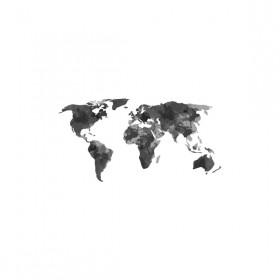 Poster Mundi Coetâneo Mapa Preto A3