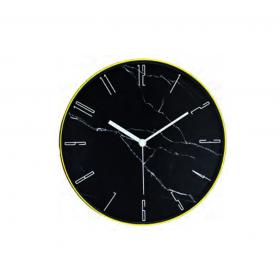 Relógio de Parede Preto Marble