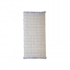 Tapete bicolor Cotton - Arado (caqui e cinza com franjas)