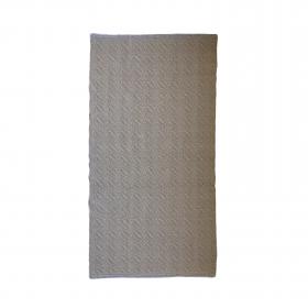 Tapete bicolor Cotton - Arado (caqui e cinza)