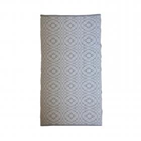 Tapete bicolor Cotton - Ladrilho (cru e cinza)