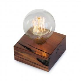 Luminária de Mesa em Madeira Tokinho Carbono