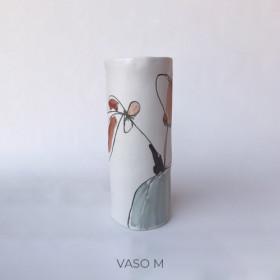 Vaso em Porcelana - Série Flores na Janela