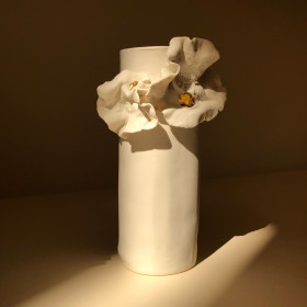 Vaso em Porcelana - Série Giverny Gold
