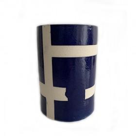Vaso de Cerâmica Geométrico Reto