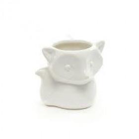 Vaso de Cerâmica Branco Raposinha
