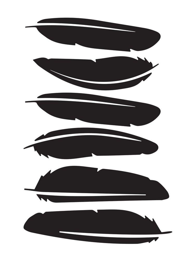 Kit de Adesivos de Parede Penas