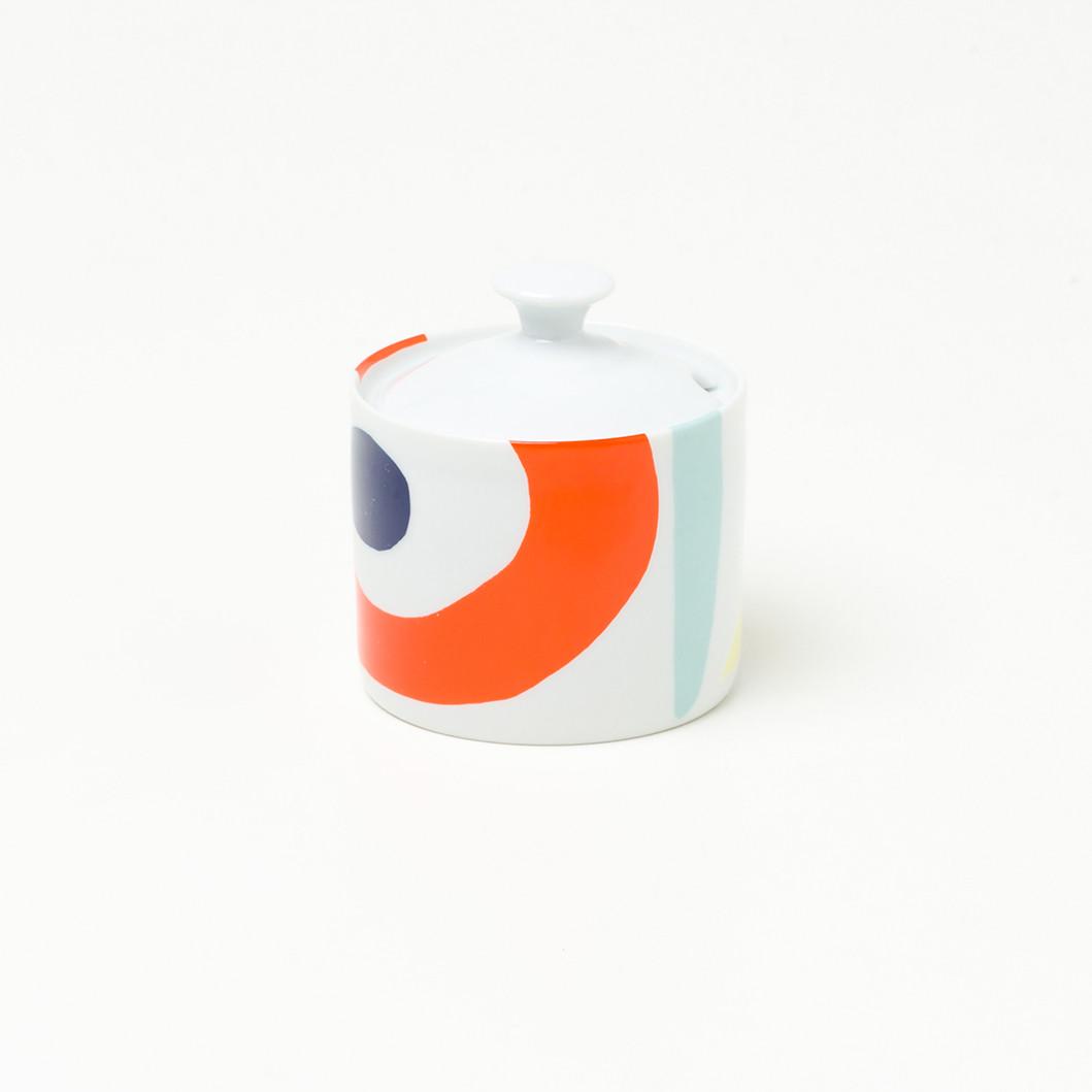 Açucareiro em Porcelana Coleção Cores De Tarsila