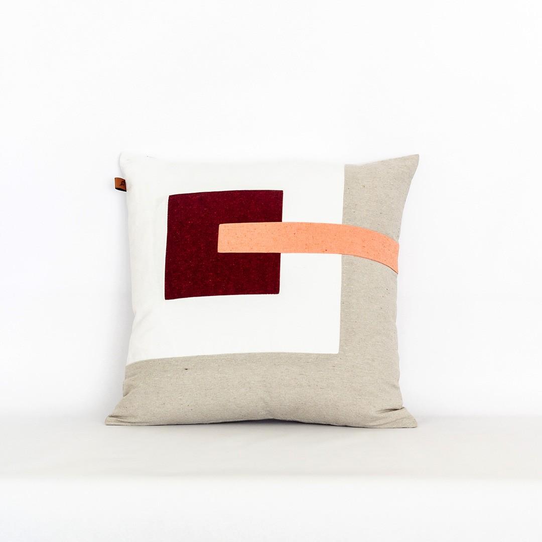 Almofada Quadrada em Tecido Ecológico Abstract