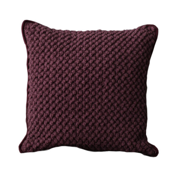 Almofada em Crochê Artesanal Quadrada Pipoca - ENTREGA IMEDIATA
