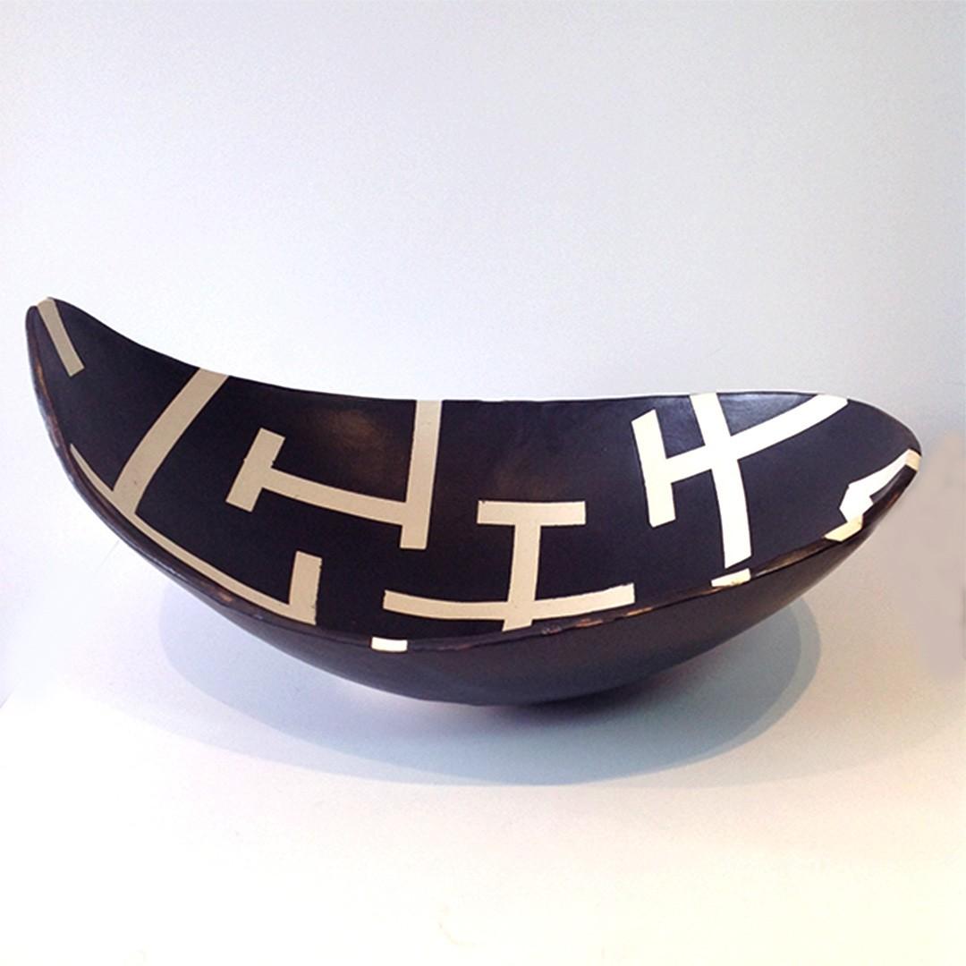 Bandeja Centro de Mesa em Cerâmica Artesanal