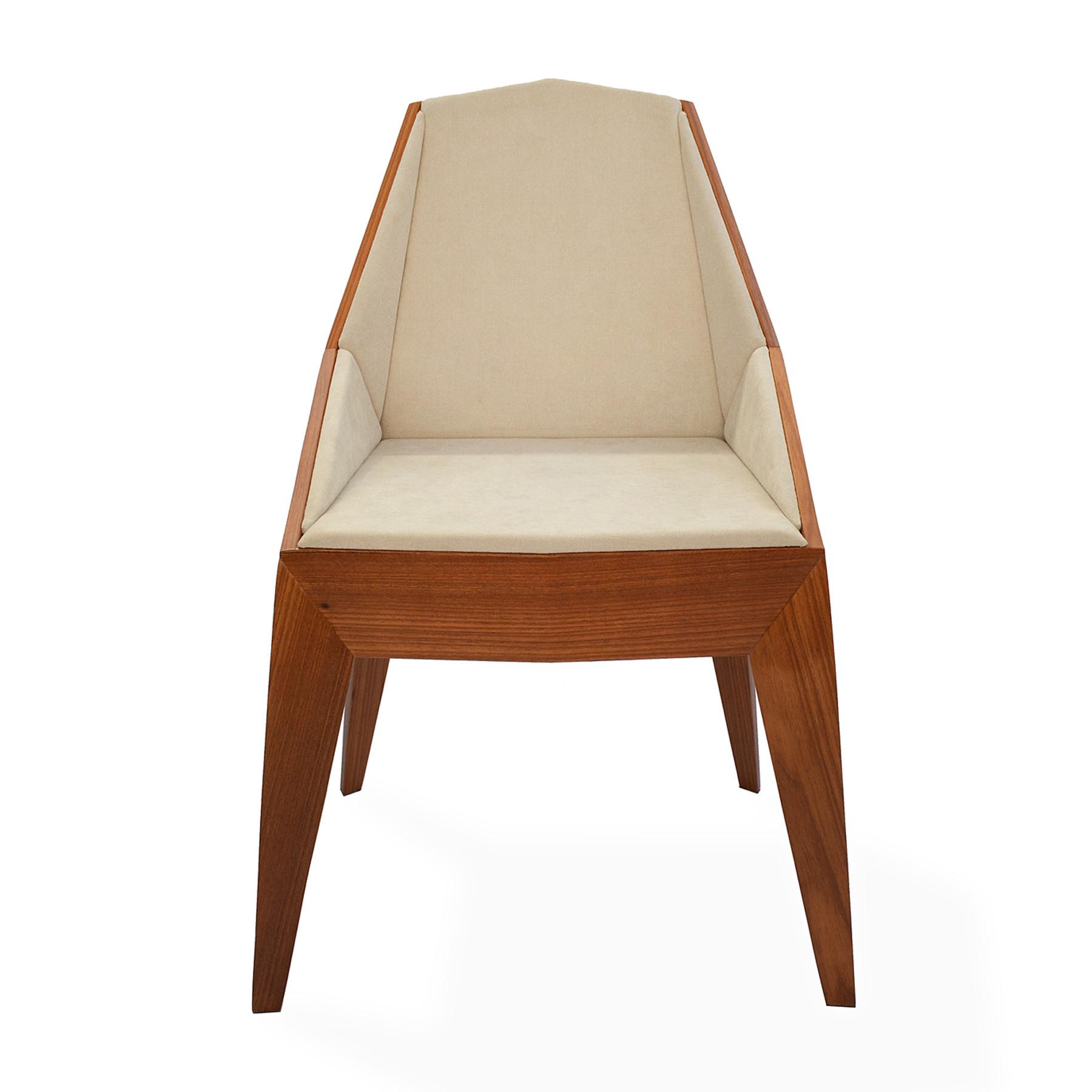 Cadeira em Madeira Estofada Triarm