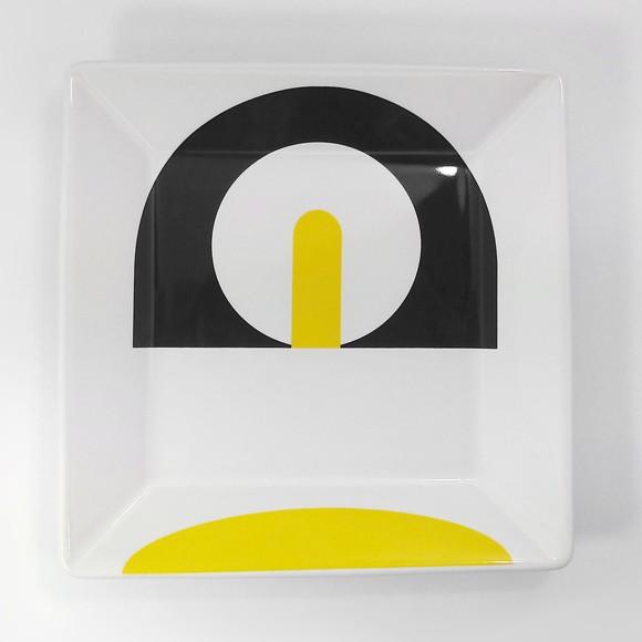 Conjunto de 6 Pratos de Sobremesa Geometria Inesperada Quadrados