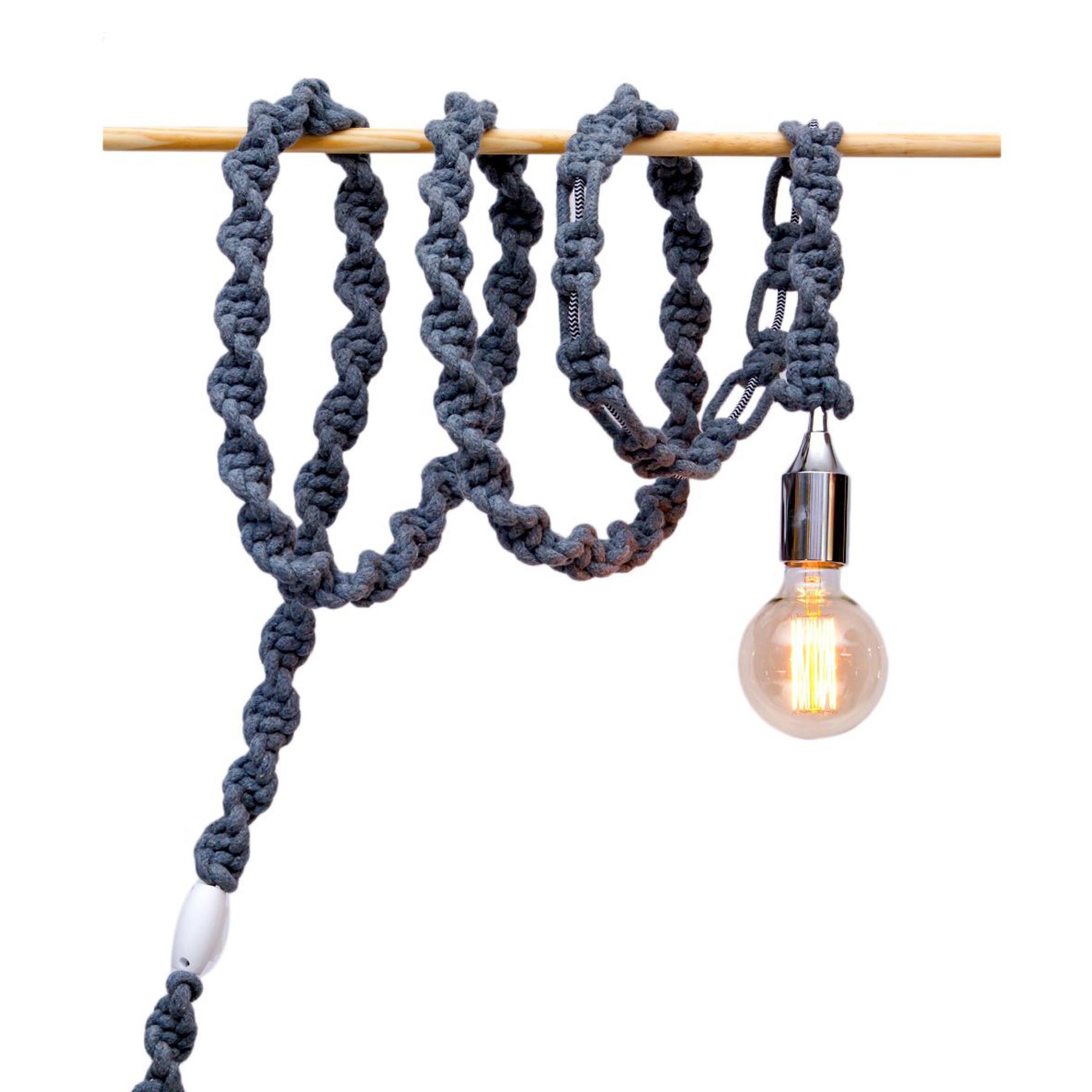 Cordão de Luz em Macramê Gray Rope