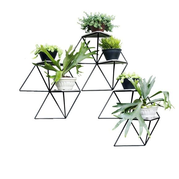 Kit 3 Módulos Hexagonais para Jardim Vertical