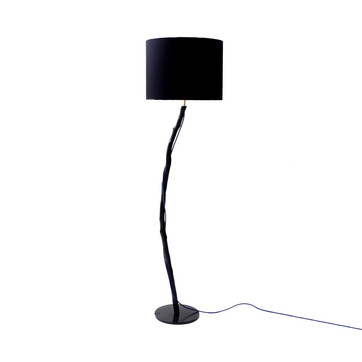 Luminária de Piso com Galho de Eucalipto Black
