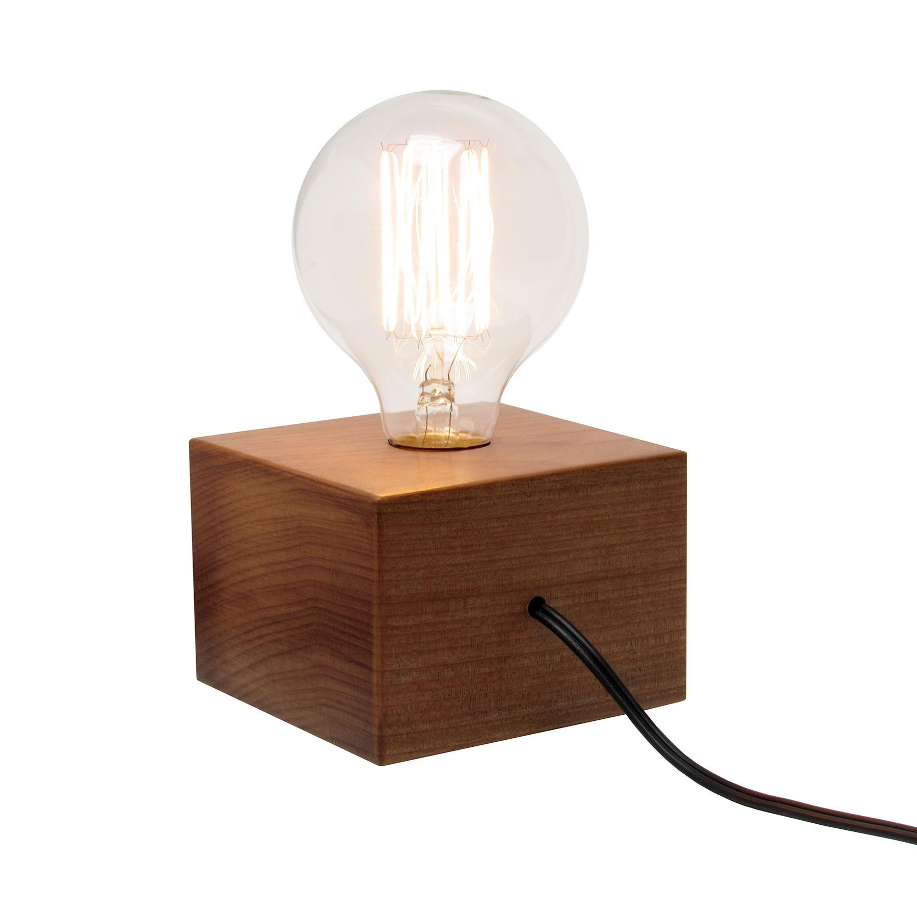 Luminária de Mesa em Madeira Tokinho