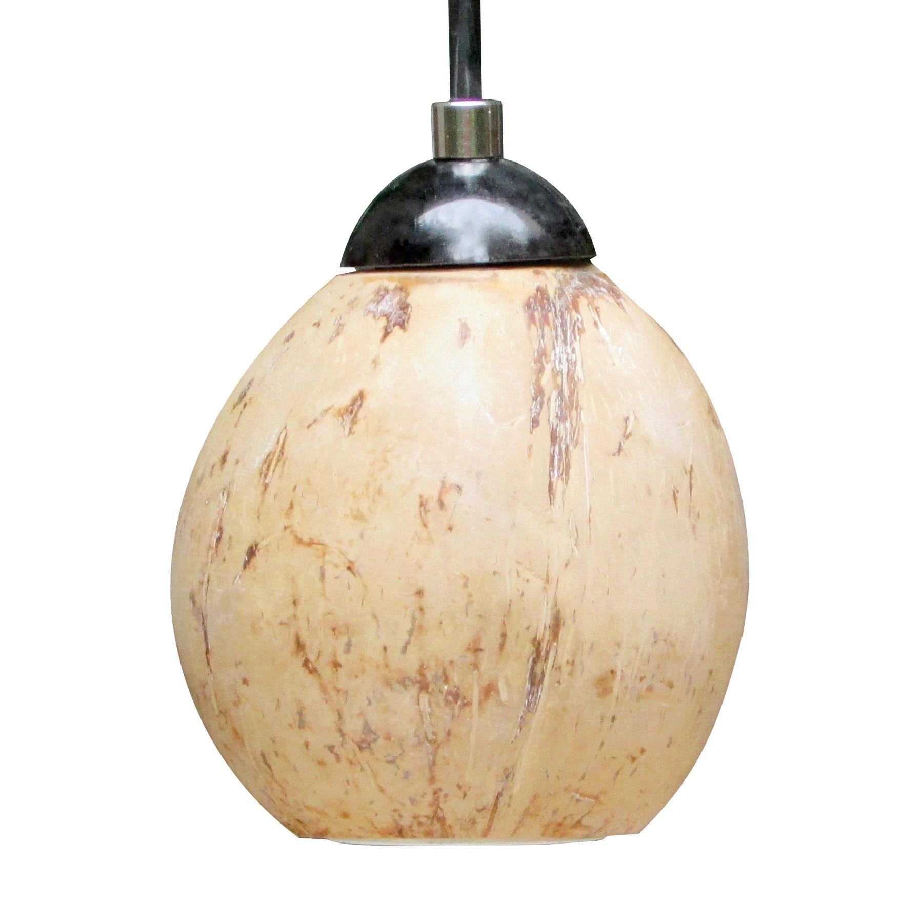 Luminária Pendente em Casca de Coco Natural Noce di Cocco
