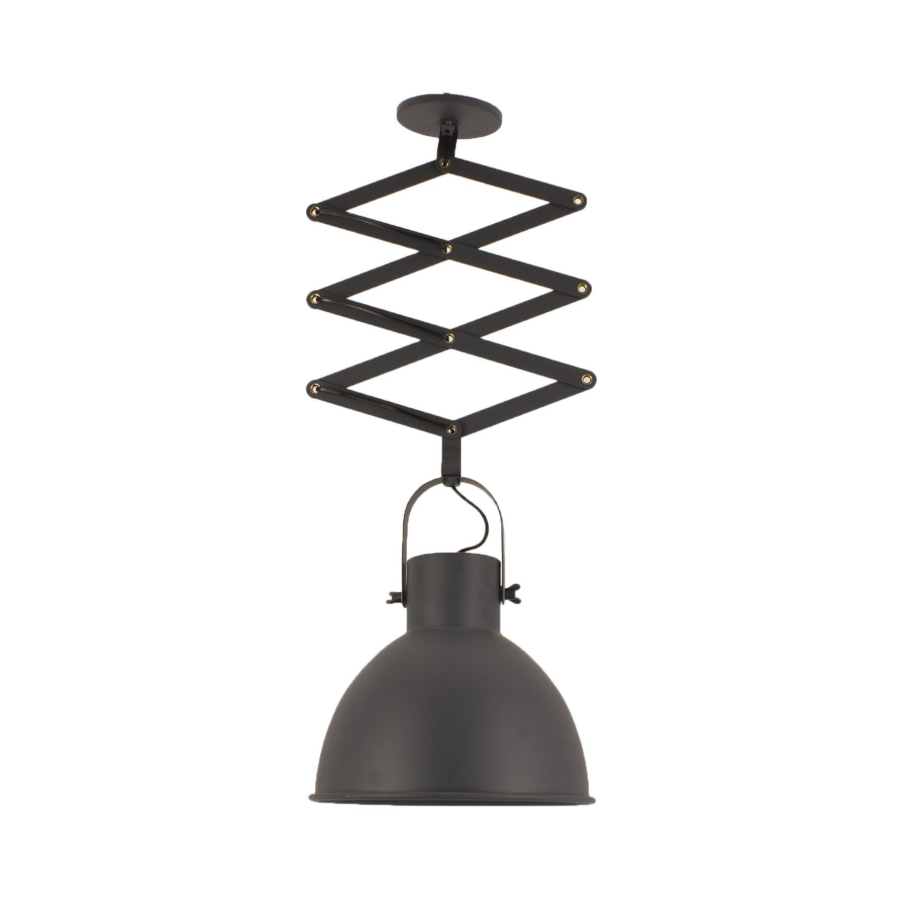 Luminária Pendente Pantográfico com Galpão 30 articulado grafite