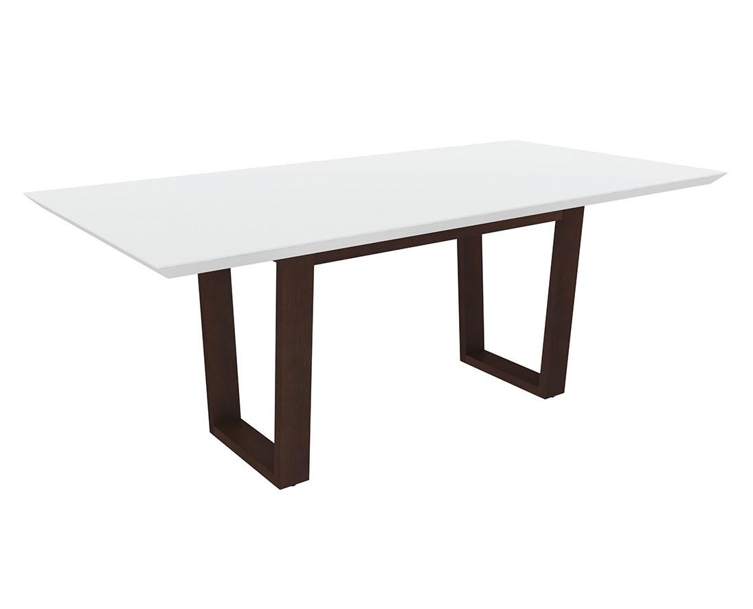 Mesa de Jantar com tampo de vidro Isadora