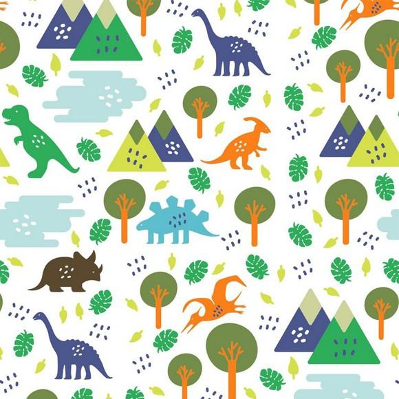 papel de parede adesivo dinossauros coloridos hometeka